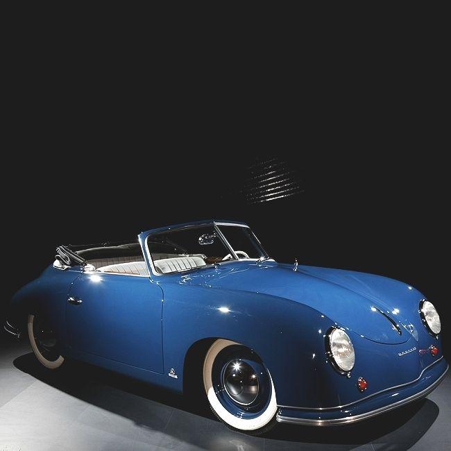 Split Window White Sided 356 1952 1954 Porsche 356