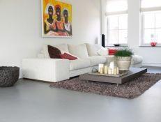 Gietvloer woonkamer grijs - gietvloeren in iedere kleur verkrijgbaar