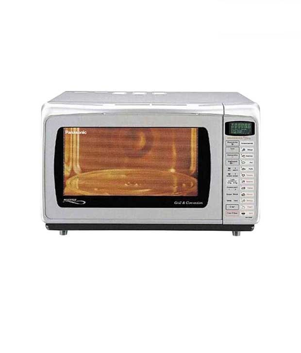 Sleek and stylish, this Panasonic convection microwave oven is a perfect kitchen appliance to make everyday cooking easier and quicker. Offering a 28 litre capacity, it delivers 1,000 watts of power, and includes 6 prescriptions for auto preparations. It also includes an Inventor Turbo Defrost which consecutively changes power, making it possible to defrost frozen foods twice as fast. The microwave includes a drop down door design.