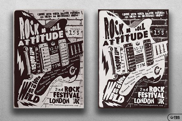 Rock Festival Flyer Template V3 by Thats Design Store on @creativemarket