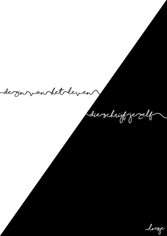 Fase 4: finaal ontwerp: Ik heb voor dit ontwerp gekozen omdat ik vind dat deze mijn concept het beste omschrijft. De opdeling van een helft wit en een helft zwart verduidelijkt zeer duidelijk het zwart-wit denken. De combinatie van de tekst in de tegenovergestelde kleur dan de achtergrond verwijst hier ook nog eens naar. Het handwritten handschrift verwijst naar dat we 'het denken zelf in de hand hebben'. We kiezen zelf of we positief of negatief in het leven staan. We kiezen zwart of wit.