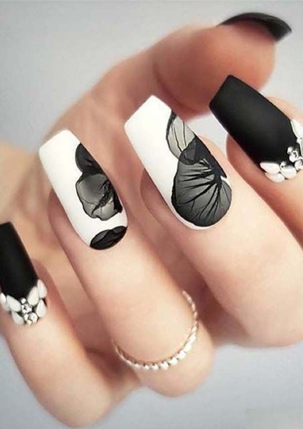 Elegant Black And White Nail Art Designs 2019 Nail Design Kormok
