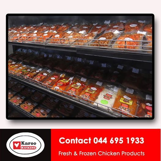 Karoo Kuikens is not ashamed to say that when it comes to meat, we only stock chicken. From whole birds to Chicken mince, if you need it, we've probably got it. Our prices are so good you could have chicken for breakfast. #poultryproducts #chickenmeat #chickenretail