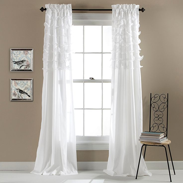 "Lush Décor Avery 84"" Rod Pocket Window Curtain Panel Pair"