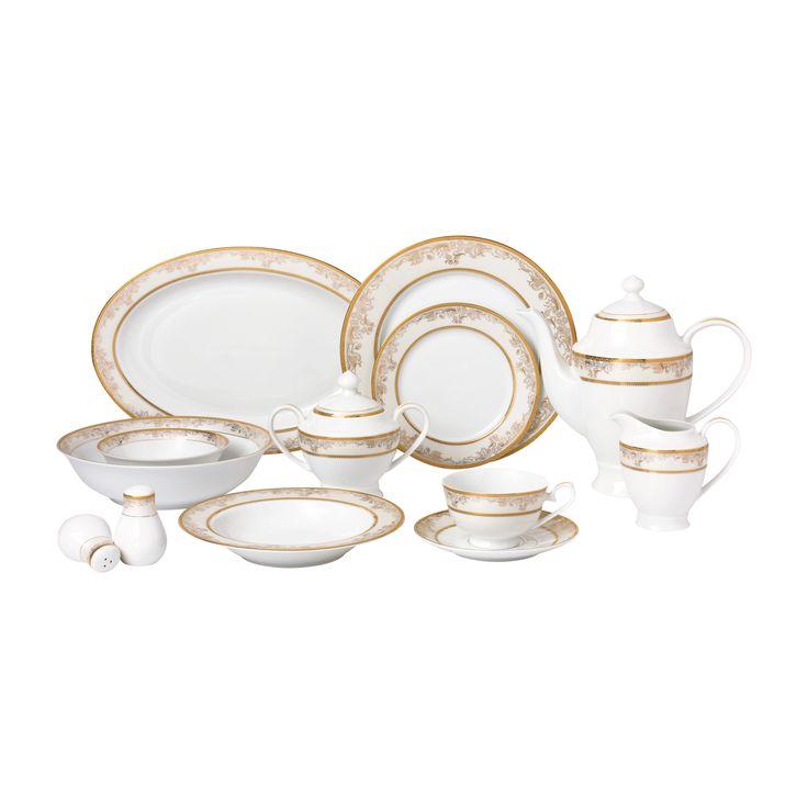 Lorren Home Trend 57-piece Dinnerware Set for 8 People - Chloe