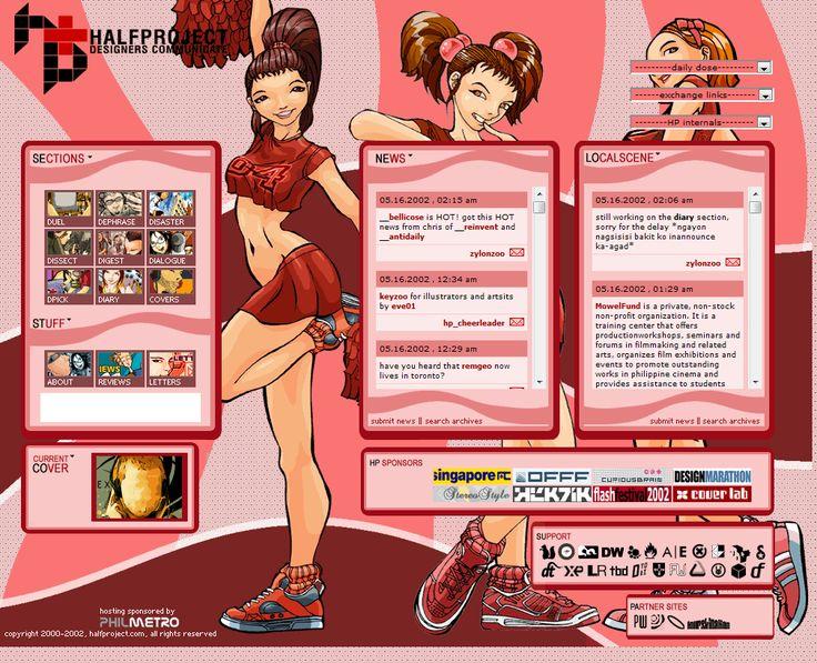 Halfproject website in 2002