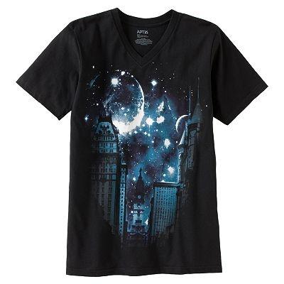 Apt 9 downtown nebula tee big and tall cool shirts for Big and tall cool shirts