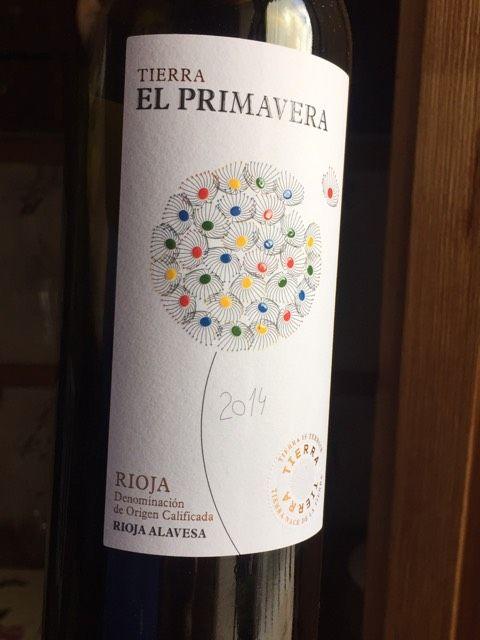 Tierra El Primavera Rioja 2014 - super smooth Tempranillo (the delicious wine I got at La Tasca before Coriolanus in January 2016 SEW)