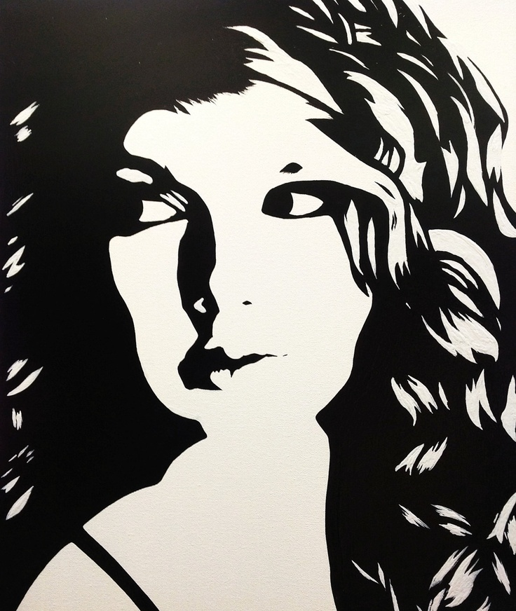 Taylor Swift: Black & White Pop Art Canvas Painting. $69 ...