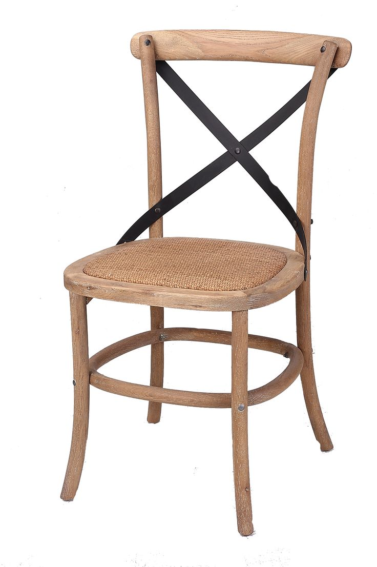 Corona  Cross Back (Steel) Dining Chair With Rattan Seat
