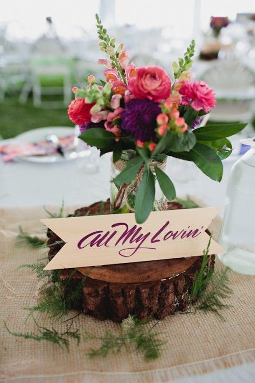 Beatles themed table names. How fun! #beatles #weddingideas #wedding #tablescape
