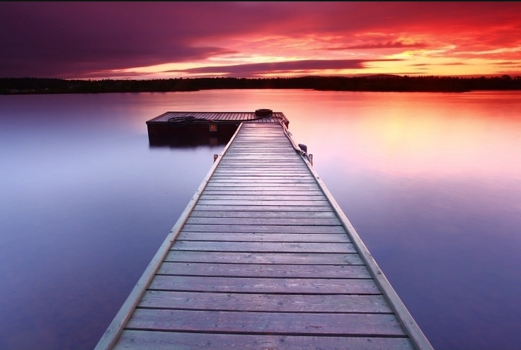 "Finland - Lapland - Midnight Sun at Inari Lake - ""Sunrise at 1AM"""