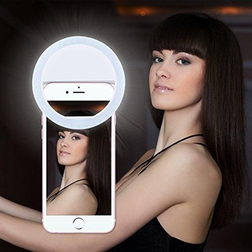 Selfie LightLavince Selfie Ring Light for iPhone 6 plus/6s/6/5s/5/4sSamsung Galaxy S7 Edge/S7/S6 edge/S6/S5/S4/S3 Motorola and All the Smart Phones with 36 Self LED Lighting(White)
