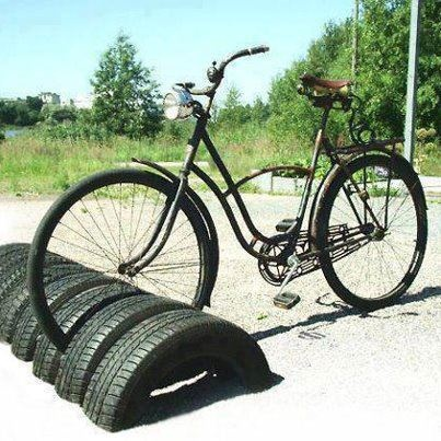 Bike rack from tires