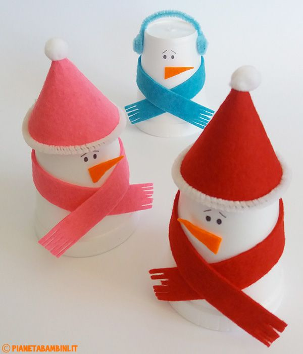 Pupazzi di neve lavoretto per bambini