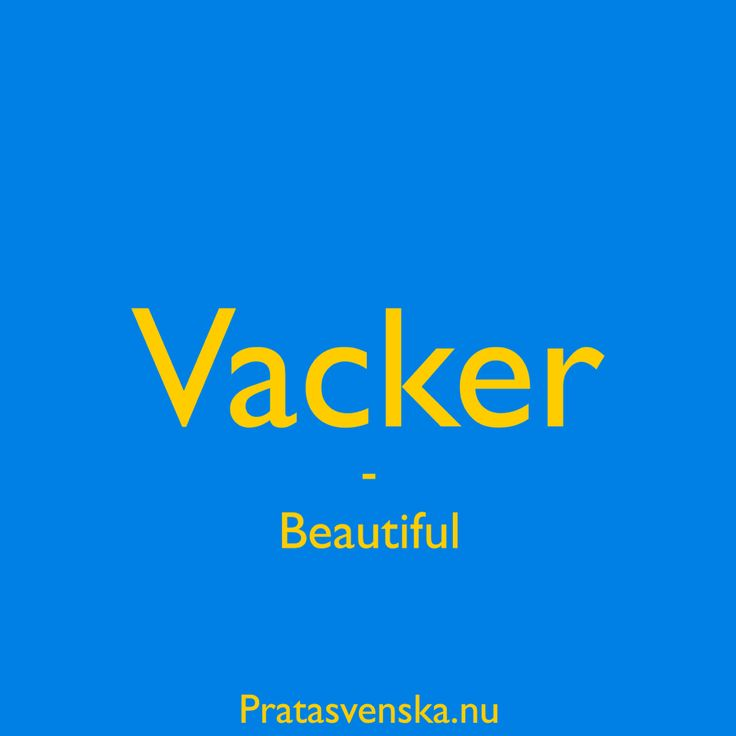 how to say words in swedish