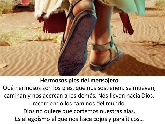 α JESUS NUESTRO SALVADOR Ω: Hermosos son los pies de los que anuncian a Jesús ...