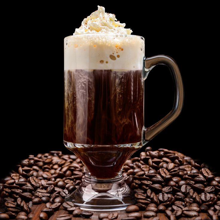 Autentico café irlandés: Leche Whiskey irlandés azúcar moreno, café Jurado cápsulas elitist.
