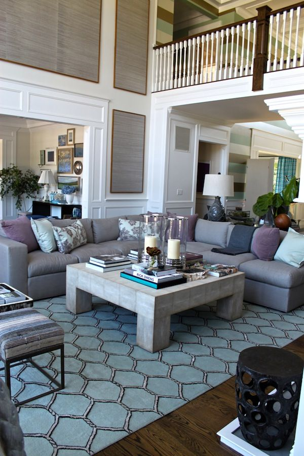 2012 Hampton Designer Showhouse Lillian August 'Great Room'     Loved this space