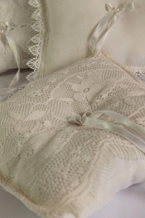 vintage ring pillow / wedding rustic by cornerofthegarden on Etsy, $25.00