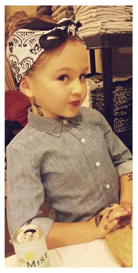 pin up..tattooed..stylish little girl