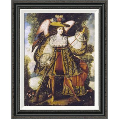 "Global Gallery 'Arcangel Con Arcabuz' by Cuzco School Framed Painting Print Size: 28"" H x 22.65"" W x 1.5"" D"