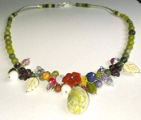 Connemara marble flowers and berries by WildAtlanticCraft on Etsy