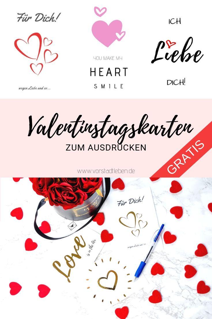 Love Is In The Air Valentinstagskarten Zum Ausdrucken Freebie Ausdrucken Verschenken Personliche Geschenke