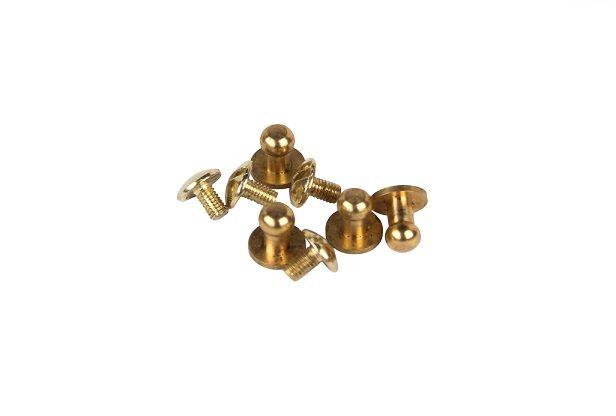 Knopik metalowy, kolor złota