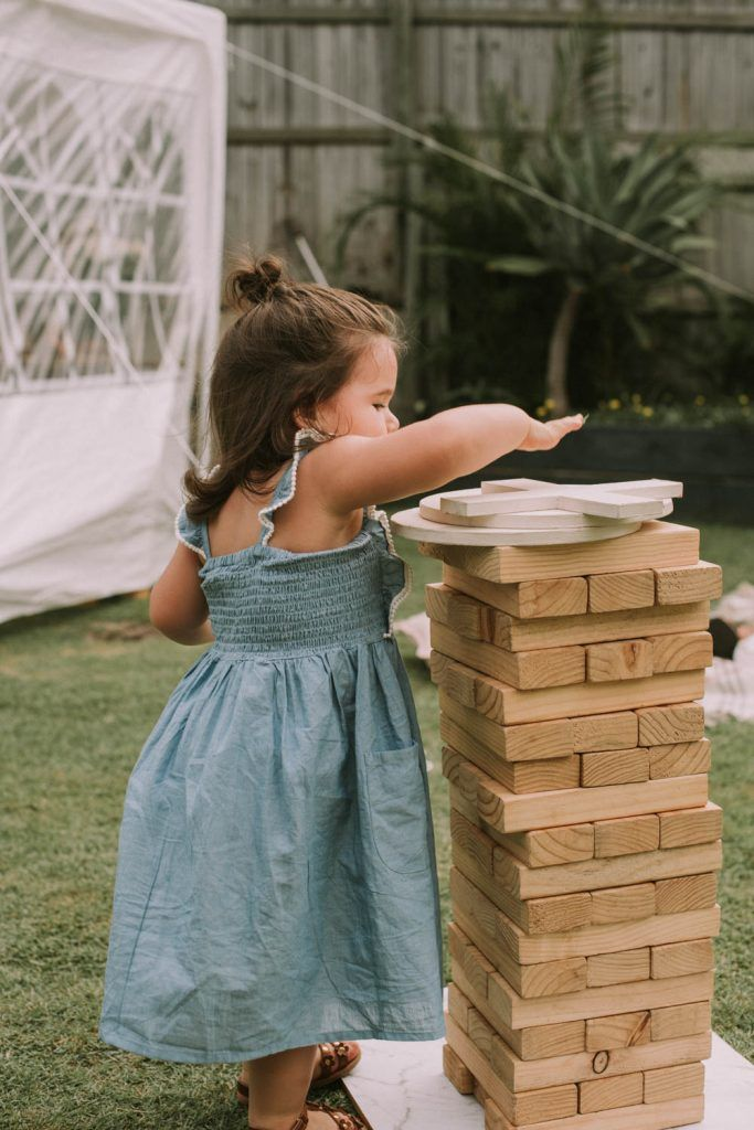 Lawn games hire from www.lovelyoccasions.com.au for Bowie's First Birthday