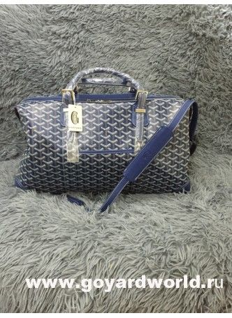 Goyard Sac Boeing Duffle Luggage Bag Blue