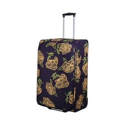 Tripp Express Bloom 2-Wheel Large Suitcase Navy/Yellow | Debenhams