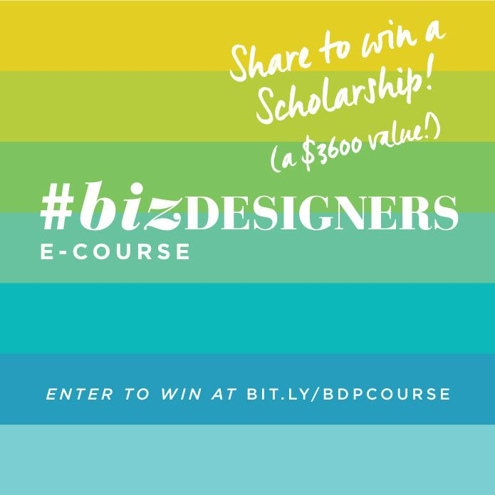This is pinned for an entry for a scholarship to #BizDesigners Plan E-Course from Whitney English