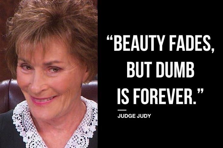 Judge Judy on Beauty