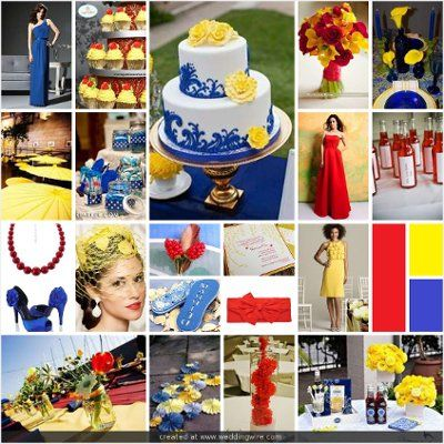 Wedding Inspirations Red Yellow And Blue Wedding Deco