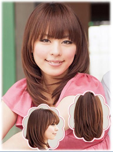 Korean Medium Length Hairstyles With Fringe Inward Curl
