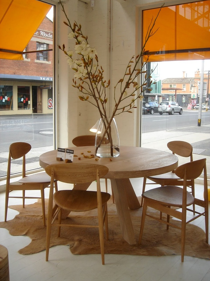 Tripod Dining Table And Oak Side Chairs Fitzroy Designed By Mark Tuckey