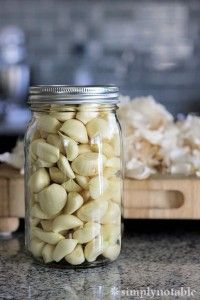 If you tend to use lots of garlic, buy whole peeled cloves in bulk. Transfer them to a tall, wide-mouthed glass jar, submerge them in canola oil, seal tightly and refrigerate indefinitely. (Olive oil will solidify in the cold.)