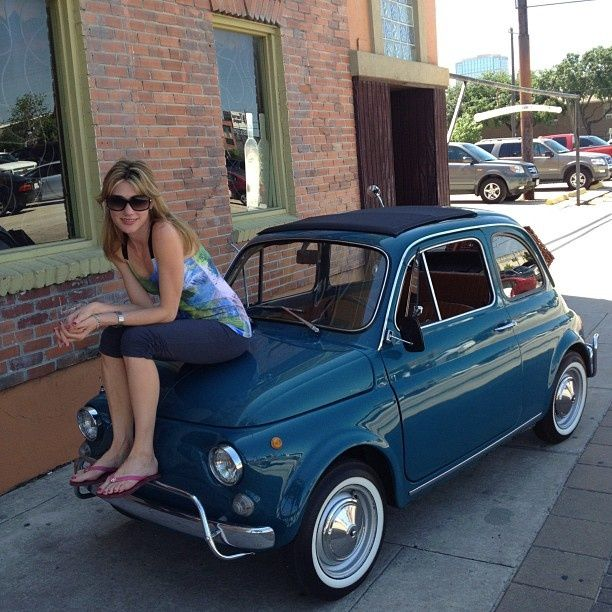 Fiat 500 And A Beautiful Girl