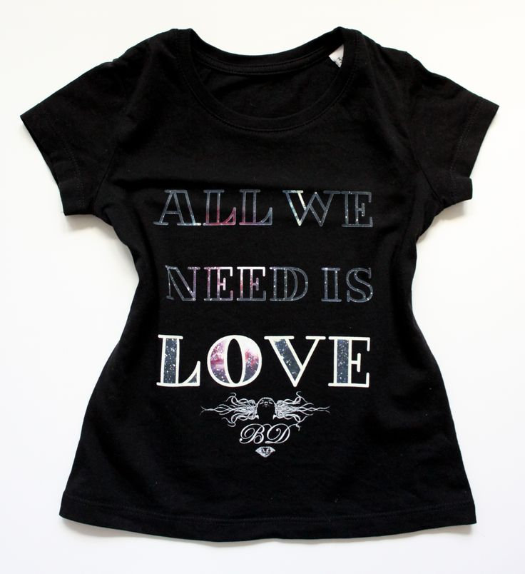 All We Need Is LOVE kids Tee  / eco / organic cotton / fair trade / clothing with attitude