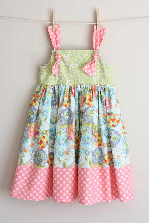 KNOT dress/ MARY knot dress/  12 mo  5t by addisonava on Etsy, $35.00