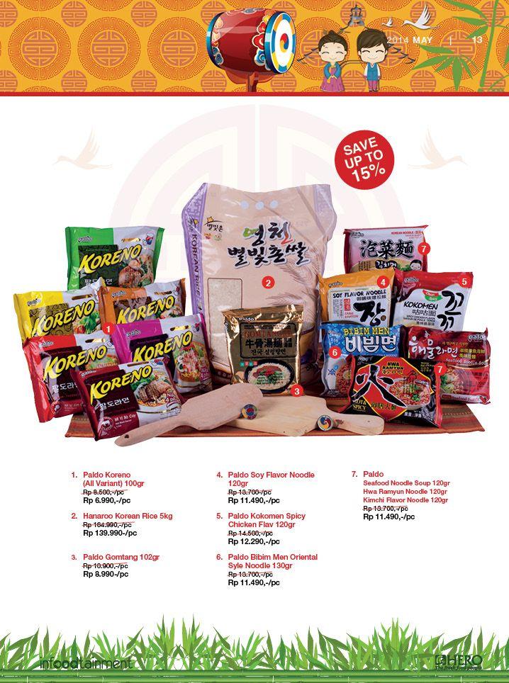 """""""Save Up To 15%"""" dengan membeli produk-produk Khas Korea hanya di Hero Supermarket. #MailerHero"""