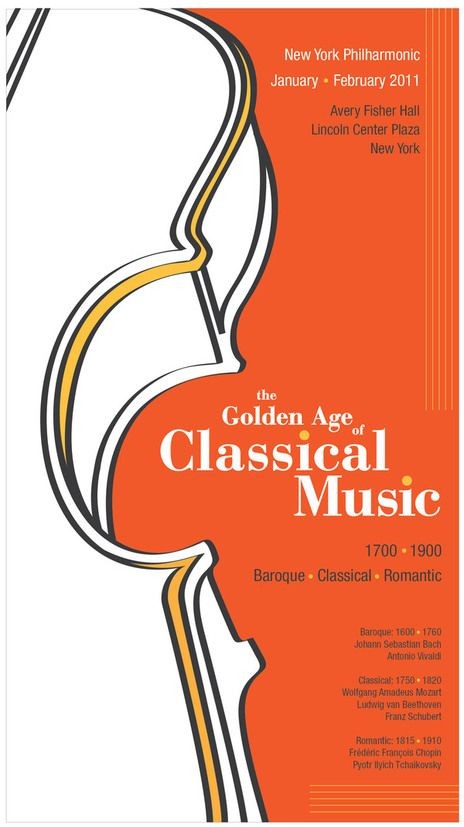 Classical Music poster | the golden age of classical music poster and brochure design