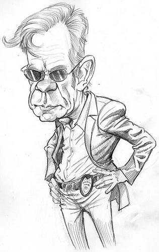 David Caruso Caricature....By Tom Richmond