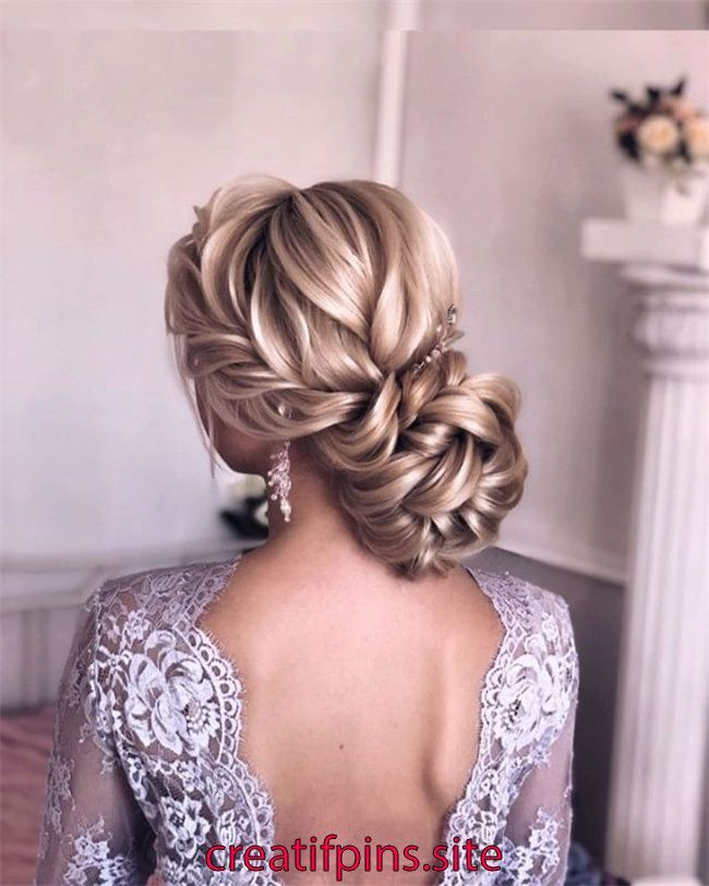 50 Chic and Elegant Wedding Hairstyles Ideas for Bridal 2019   On the wedding day, there are many ways to shape the mid-length hair. If you have wavy …
