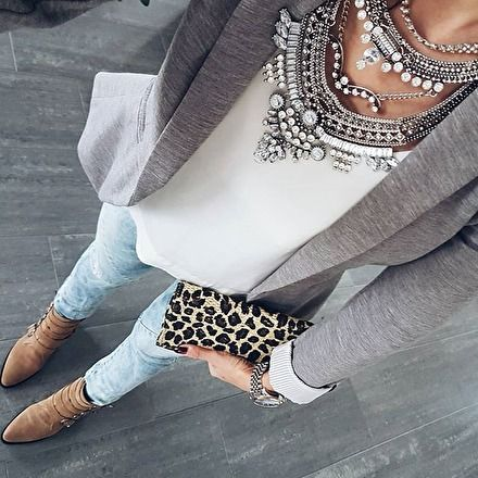 Glamorous Over The Top Statement Necklace #fashionista #outfitoftheday #fashiontrends - 27,90 € @happinessboutique.com
