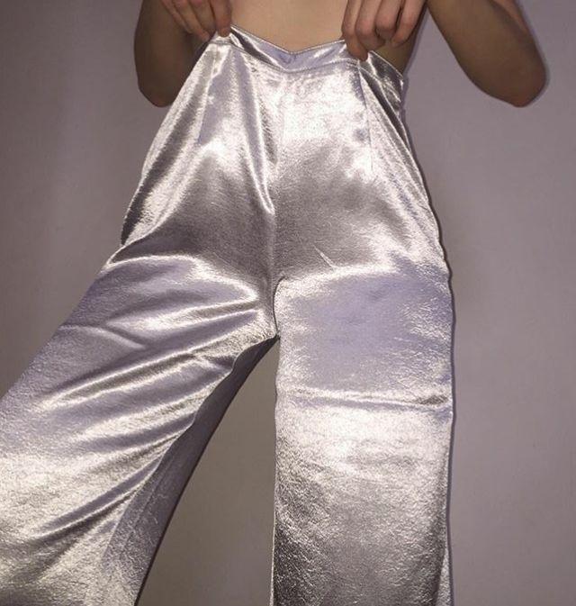 Metallic pants, super cute