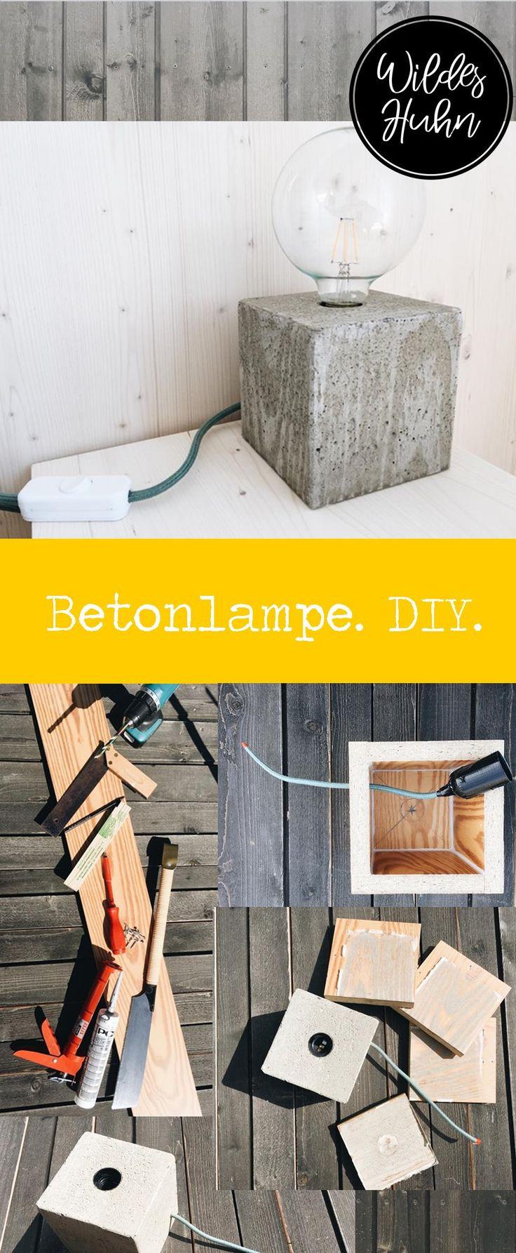 individuelle betonlampe selber machen anleitung und tipps f r eine selbergemachte lampe im. Black Bedroom Furniture Sets. Home Design Ideas