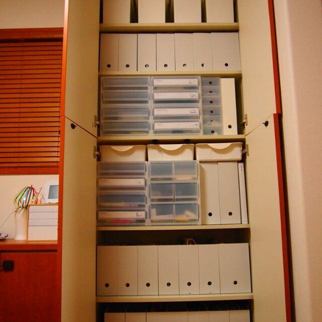 meeさんの、リビング,無印良品,収納,ファイルボックス,北欧インテリア,リビング収納,100円,同じものを並べたい,整理収納部,書類収納,造り付け収納,のお部屋写真