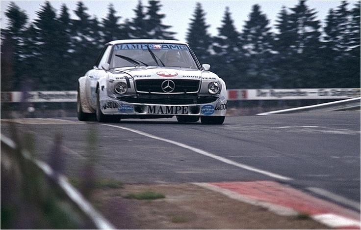 Großer Preis der Tourenwagen 1978 – Mercedes-tuner AMG started with a 450 SLC driven by Hans Heyer and Clemens Schickentanz.